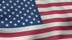 4K UltraHD Loopable waving American flag animation Stock Footage
