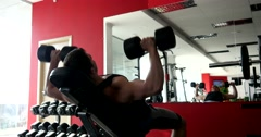 Stock Video Footage of Sports man hard training in gym