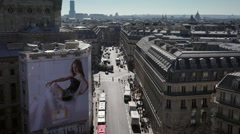 Time lapse Paris streets and top of buildings - 60fps Stock Footage