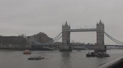 London icon Tower Bridge united kingdom, great english cityscape, England travel Stock Footage