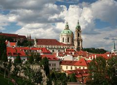 Prague, Czech republic - View od Hradcany with the splendid baro - stock photo