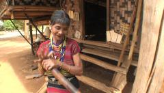 Laos tribal music ethnic Lave Stock Footage