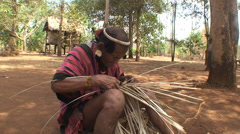 Laos tribal weaving ethnic Lave Stock Footage