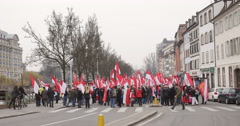 Protest in Strasbourg Stock Footage