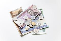 Litas, former currency of Lithuania - stock photo