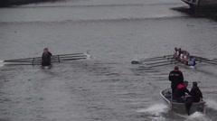 St Patricks Festival Rowing Race River Liffey Stock Footage