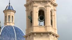 Bells ringing in belfry, wider Stock Footage