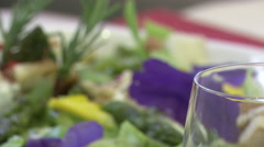 Close up of freshly made salad  Stock Footage