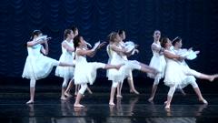 Children ballerinas. Stock Footage