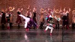 Ukrainian dance. Stock Footage
