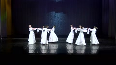 Slavic folk dances. Performance of the dancers. Stock Footage
