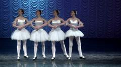 Ballerina funny dancing ballet. Stock Footage
