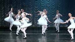 Girls ballerina. Stock Footage
