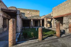 Herculaneum, Naples Italy Stock Photos