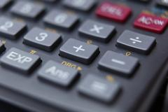 Calculator (shallow depth of field - selective focus is placed o Stock Photos