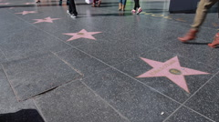 Walk of Fame in Hollywood - stock footage