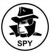 spy agent - stock illustration