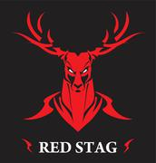 stag, red stag - stock illustration