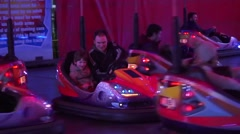 Dublin Bumper Cars St Patricks Day Stock Footage