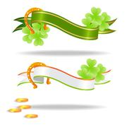 Good luck or st. Patrick's day banners - stock illustration