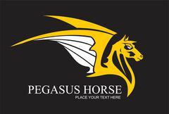 Yellow pegasus Stock Illustration