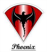 Phoenix. Black Phoenix. - stock illustration