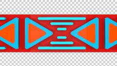 3D TRIANGLE LINES ELEMENTS BELT ANIMATED TRANSITION. ALPHA CHANNEL Stock Footage