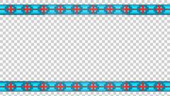 3D TRIBAL FRAME INCA CROSS PATTERN ETHNIC STRIPES ANIMATION. ALPHA CHANNEL. Stock Footage