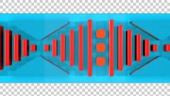 3D DIGITAL KEYBOARD BUTTONS STRIPE ANIMATED TRANSITION. ALPHA CHANNEL. Stock Footage