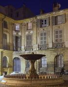 Lovely fountain (Albertas  Fontaine d'Albertas) in Aix-en-Proven Stock Photos