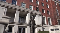 St. Louis County Law Enforcement, HQ monument Stock Footage