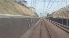 Odakyu Line from Hakone towards Shinjuku Stock Footage
