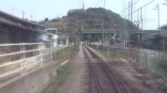 Odakyu Line from Hakone Station Stock Footage