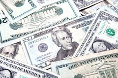 American dollars background / USD background texture - stock photo