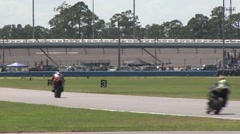 2015 Daytona 200 Tails away Stock Footage