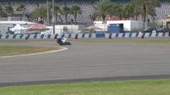 Bikes on east horseshoe turn, Daytona 200 2015 Stock Footage