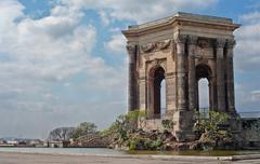 Arc de Triomphe, in Peyrou Garden in Montpellier, France Stock Photos
