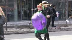 Toronto St Patrick day parade Stock Footage