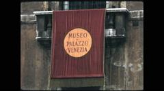 Close Up Sign Museo Palazzo Venezia Stock Footage