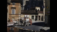 Oxen in Assisi Stock Footage