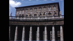 Wide Shot of Pope's Residence in 1957 Stock Footage