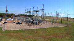Electric Sub Station Stock Footage