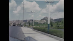 Pass Sign Approaching town of Spoleto Italy Stock Footage