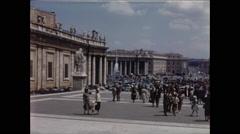 Pans of Saint Peter's Square Vatican City Stock Footage