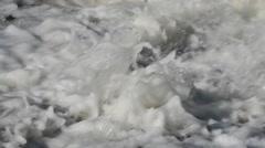 River foam Stock Footage