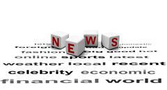 News report concept - stock illustration