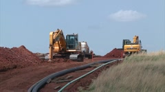 Pipeline Construction 2 Stock Footage