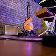 stage in a music club - stock photo