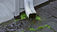Roof Pipe Drain Stock Footage