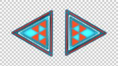 3D TRIANGLE ARROWS DILEMMA LOADING ICON INTRO ANIMATION. ALPHA CHANNEL. Stock Footage